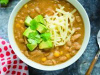 White Chicken Chili from 100 Days of Real Food: Fast & Fabulous by Lisa Leake #100DaysFastandFab