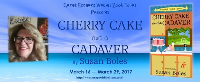 Cherry Cake and a Cadaver tour banner