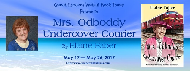 Mrs. Odboddy Undercover Courier by Elaine Faber - Guest Post + Giveaway