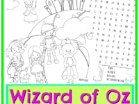 The Wizard of Oz Coloring Page + Word Search