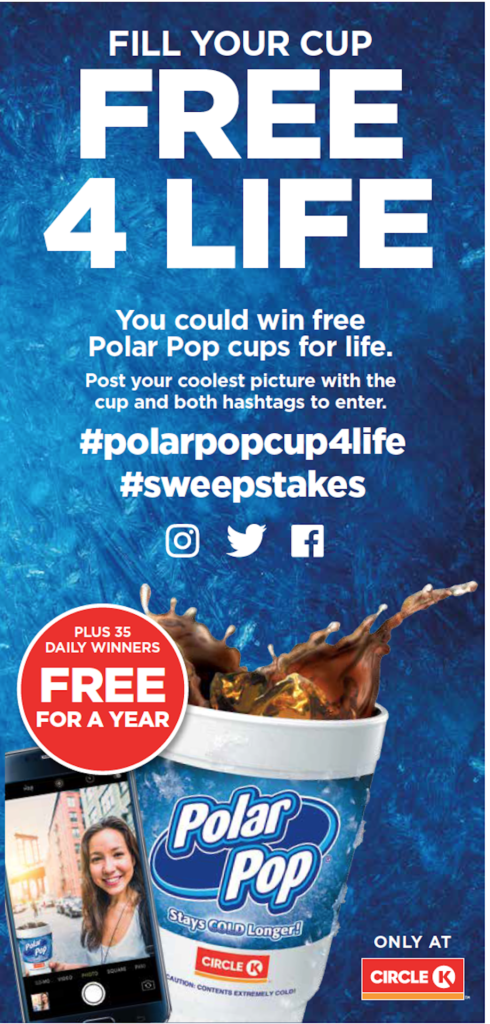 Polar Pop Free 4 Life Sweepstakes Banner Circle K