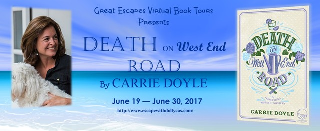 Death on the West End Road tour banner