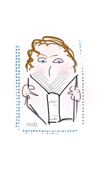 Author Molly D. Campbell drawing