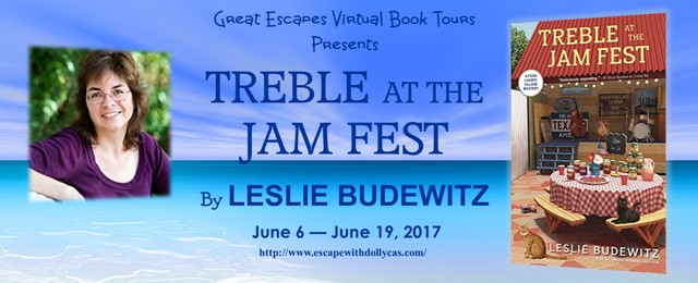Treble at the Jam Fest by Leslie Budewitz – Guest Post + Giveaway