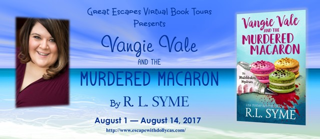 Vangie Vale and the Murdered Macaron book tour banner