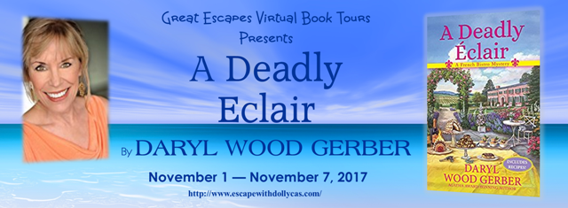 A Deadly Éclair by Daryl Wood Gerber - Camembert Onion and Mushroom Soup Recipe + Review + Giveaway