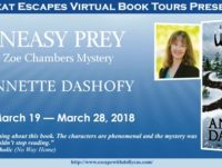 Uneasy Prey by Annette Dashofy – Guest Post + Giveaway
