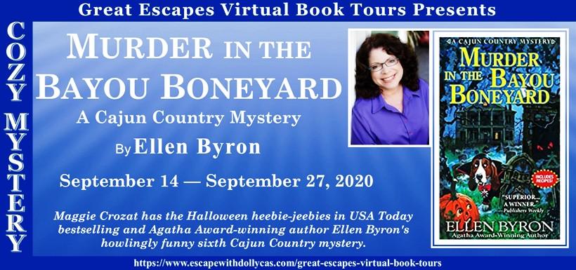 Ellen Halloween Giveaway 2020 Murder in the Bayou Boneyard by Ellen Byron   Spotlight & Giveaway