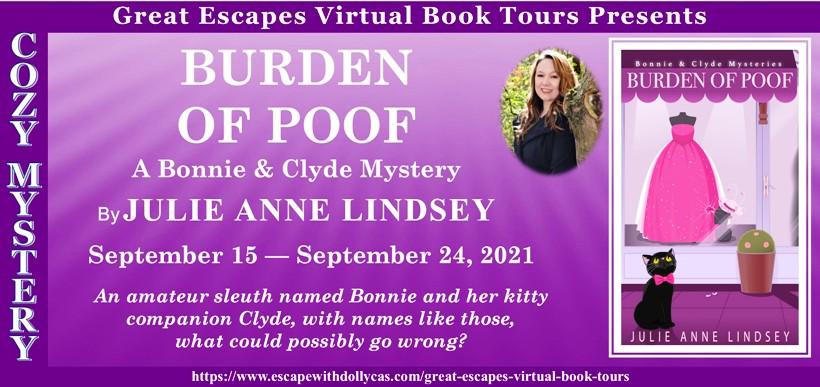 Burden of Poof by Julie Anne Lindsey - Spotlight + Review + Kitty Prize Package Giveaway